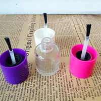 Wholesale Empty Nail Polish Bottle 5ml - Glass Nail Oil Package With Lids Polish 5ml Empty Round Nail Polish Bottles And Small Brush Nail Art Container F2017513