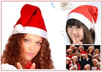 20 peças / lote 2017 New Kids Adults Christmas Hat Red Santa Claus Hats Caps Xmas Party Dress Up Decoration