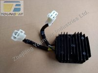 Wholesale Scooter Moped ATV GY6 cc QMI QMJ Voltage Regulator Rectifier phrase plug wire DC for pole stator
