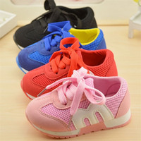 Wholesale Baby Girl Red Bottom Shoes - New Autumn Children Shoes Girls And Boys Sport Antislip Soft Bottom Kids Shoes Comfortable Baby Toddler Shoes Sneakers