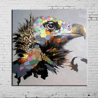 Incorniciato Eagle Animal Decorativo, Dipinto a mano pura Decorazione murale moderna Pittura ad olio Pop Art di alta qualità Canvas.Multi size Disponibile a-me