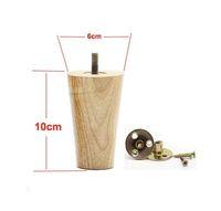 Wholesale Wood Sofa Feet - 4PCS LOT H:10CM Diameter:4-6cm Solid Wood Sofa Cupboard Legs Feet