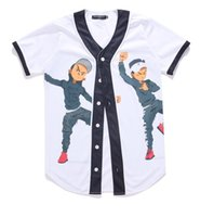 Wholesale Cool Casual Clothes - New Arrival Fashion Hip Hop Dancing Guys Jersey 3d All Over Print Baseball T-Shirt Summer Men Cool Sport Streetwear Tops Clothes