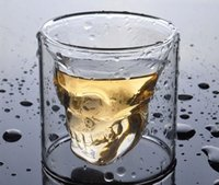 Wholesale Skull Crystal Cups - New Shot Glass Skull Head Cup Crystal Ware Cup Beer Wine Drinking family Bar necessary Clear Transparent