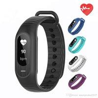 Wholesale Digital Blood Monitors - B15P Women Men Digital Wristwatches Blood Pressure Wristband Heart Rate Monitor Fitness Clock Alarm Fashion Sports Watches