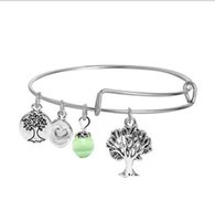 Wholesale Crystal Wish Tree - Fatima Hand Love and Be Loved Bracelets Silver Gold Bangle With Tree Of Life Palm Wish Anchor Sea Charms Bangle