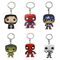 Wholesale Captain Games - Marvel Funko Pop Game of Thrones Super Hero Keychain Deadpool Captain America The Walking Dead Action Figure