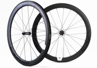 Wholesale Wheel Set Carbon Bike - Freeshipping 700C 50mm depth 25mm width carbon wheel road bicycle Tubular carbon wheelset with EVO straight pull hub U-shape rim