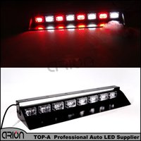 HEHEMM Car 24 LED 72W Rojo Blanco Strobe Luz <b>Dashboard Strobe</b> Advertencia Policía Bombero Luces de Estacionamiento Luces