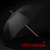 Wholesale Wholesale Sword Umbrellas - LED Lightsaber Light Up Umbrella with 7 Color Laser sword Light up Golf Umbrellas Changing On the Shaft Built in Torch at Bottom