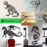 Wholesale Large Cartoon Dinosaur Stickers - 3D Dinosaurs Wall Stickers for Kids Room Decoration DIY Home Decals Cartoon Dinosaurs Sticker Art For Living Room Posters Free Shipping