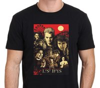 Wholesale Horror Shirts - T Shirt Good Quality T Shirt Tops Short Sleeve Printed Crew Neck Mens New The Lost Boys 80S Horror Movie