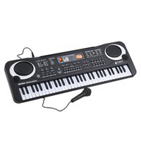 Wholesale Electronic Musical Instruments - Wholesale- 61 Keys Music Electronic Digital Keyboard Electric Organ Children Great Gifts With Microphone Musical Instrument Top quality