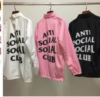 Wholesale Long Sleeve Nylon Man - ANTI SOCIAL SOCIAL CLUB Windbreaker Jackets Men ASSC Logo Hip Hop Season Nylon Box Jaket Treinador Bomber Alfa Ceket Coats