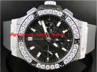 relógios mens grande banda venda por atacado-Relógio De Pulso De luxo Mens Brand New Big 44 Mm Evolução Rubber Band Diamante Relógio de 10 Ct Mens Relógios de Pulso dos homens