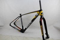 Wholesale Mtb Frame Carbon Fork - Wokecyc MTB carbon frame 29er come with front fork 100*15mm racing frameset 142x12 rear thru axle mountain frame compatible 135x9