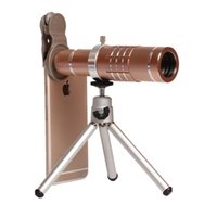 Wholesale Iphone Tripod Mobile - 18X Zoom Phone Telescope Telephoto Camera Lens + Tripod + Aluminum Protective Shell Universal For iPhone Android Mobile Phones