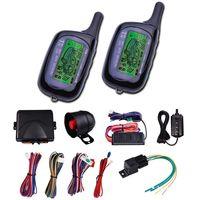 araç güvenlik alarm sistemi toptan satış-CarBest Araç Güvenlik Çağrı Araba Alarmı 2 Yönlü LCD Sensörü Uzaktan Motor Çalıştırma Sistemi Seti Otomatik | Araba Hırsız Alarm Sistemi