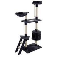 "Wholesale Cat Hammocks - New 60"" Cat Tree Tower Condo Scratcher Furniture Kitten Pet House Hammock Gray"