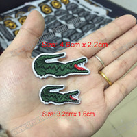 Wholesale Wholesale Bags Embroidered - Wholesale Quality Brand Embroidered Patches Iron On Jacket Tshirts Bags Patches Applique DIY Small Size Embroidery Patch Free Shipping