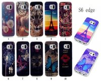 Wholesale Tiger Galaxy S4 - Blu-ray Soft TPU Case For Samsung Galaxy S3 S4 S5 S6 edge plus S7 edge Dreamcatcher Effiel Tower Beautiful Cartoon Butterfly Dog Tiger