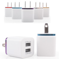 Wholesale Ipad Charger 1a Home - 2017 Hot 1A 2.1A Dual Double USB Port US Plug Home Travel Charger Power Adapter For iPad iphone 6S 7 Plus Smartphone