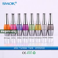 Wholesale Smok Tumbler Tank - Wholesale- 100% Original Smok Tumbler tank 3.5ml Tumbler atomizer pyrex glass changeable bottom coil Tank vase clearomizer