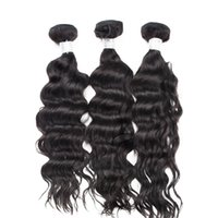 Wholesale One Piece Products - Virgin Indian Hair Natural Wave Human Hair Weaves Extension 3pcs lot One Donor Raw Material UGlam Hair Products