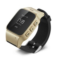 Wholesale Gps Tracking People - Wholesale- Elderly D99 Smart Watch Anti-lost Mini Waterproof Wifi LBS GPS Tracking Smartwatch For Old People Parents