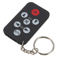 Wholesale Universal Remote Keychain - Wholesale- ETC-Mini Universal IR TV Remote Control 7 Keys with Keychain Black