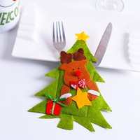 Indoor Christmas Decoration Cloth None Christmas restaurant, hotel layout, knife and fork bag, creative tableware set, snowman, knife and fork set, Christmas decorations