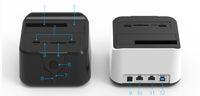 sabit sürücü depolama toptan satış-Toptan-2016 wifi router sata hdd 3.5 2.5 USB 3.0 yerleştirme istasyonu harici depolama sabit disk muhafaza sabit disk durum TF SD kart okuyucu