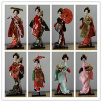 Wholesale oriental dolls - 24 types 30cm Oriental Japanese silk furnishings Kimono Kabuki Geisha Doll Birthday Xmas Hinamatsuri Girl's day Gift