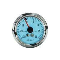 Wholesale Racing Meter Gauge - Wholesale- Racing 52mm Electrical Luminescent Turbo Boost Gauge -30~20 PSI with step-down transformer car meter auto gauge Blue YC100940