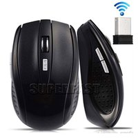 Wholesale Laptop Pc Wholesale - 2.4GHz USB Optical Wireless Mouse USB Receiver mouse Smart Sleep Energy-Saving Mice for Computer Tablet PC Laptop Desktop With White Box