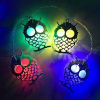 ingrosso luci stringa gufo-1.5M 10LED Battery LED a LED Owl Light String Fairy Light Christmas Bedroom Party Garden Home Decor Bambini Regali per bambini