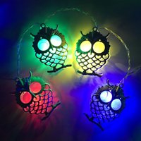 Wholesale owl party lights for sale - Group buy 1 M LED Battery Operated LED Owl Light String Fairy Light Christmas Bedroom Party Garden Home Decor Children Baby Gifts