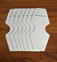 etiquetas blancas en blanco al por mayor-200 Unids blanco bricolaje tarjetas en blanco collares tarjetas de papel de alta calidad de embalaje de la joyería brazalete pulsera display collar colgar las etiquetas