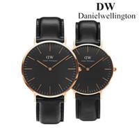 Wholesale Lover Movement - Daniel Wellington New Dw watches women mens black fashion Couple watch leather Sweden Brand men quartz watch movements Luxury montre femme