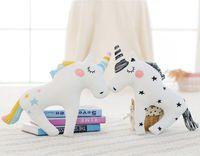 Wholesale Wholesale Cloth Dolls - INS decorative unicorn toy Plush Toys pillow photo children's room layout pony doll Plus Animals wholesale free shipping