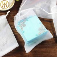 sacolas artesanais brancas venda por atacado-Sacos de Bolhas de Cor branca Handmade Soap Facial Cleanser Espuma Líquido Elástico Saco de Malha Macio de Alta Qualidade 0 3sl B R