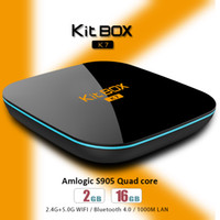 Wholesale Discount Android - Discounted Android TV Box Kitbox 2GB 16GB Amlogic S905 TV Box Android 5.0 OS dual band WiFi BT4.0 4K H.265 KD16.1