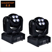 Wholesale Led Disco Cheap - Cheap Price 2pcs lot Two Face Led Moving Head Light RGBW DMX 512 Control 17 22 channels 100W moving head wash Disco DJ equipment 8*8W Leds