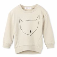 Wholesale Shop Kids Clothing Winter - Wholesale- Free shopping 2015 New kids Sweatshirts hoodies children 100%Cotton high quality,Cat cute Animal printed baby clothes