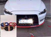 Wholesale rubber bumper strips - 2.5m Car Protector Front Bumper Lip Splitter Car Sticker Body Kit Spoiler Bumpers Valance Chin Car Rubber Strip 60mm Width