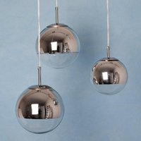 Miroir Ball Tom Dixon Lustre Single-tête 15 CM / 20 CM / 25 CM / 30 CM Miroir Ball Lamp Moderne Pendant Lights PL161