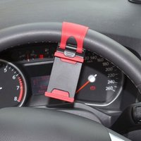 samsung s5 autohalter großhandel-Universal Car Lenkrad Handyhalter, Halterung für iPhone 4S 5 6 plus Samsung Galaxy S4 S5 S6 Hinweis 3 4 Smartphone GPS