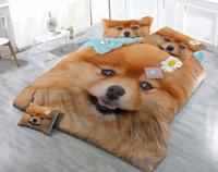 ingrosso disegni di cani-I disegni su misura possono essere personalizzati Set di biancheria da letto in 5 pezzi
