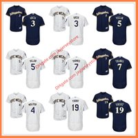 Men orlando baseball - Milwaukee Brewers Jersey Flexbase Cool Base Orlando Arcia Paul Molitor Jonathan Villar Eric Thames Robin Yount Jersey Home Away Pinstripe Bl