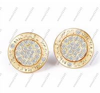 Wholesale Foreign Gold Earrings - Low - cost wholesale foreign trade bursts single earrings gold foreign trade male and female couple earrings